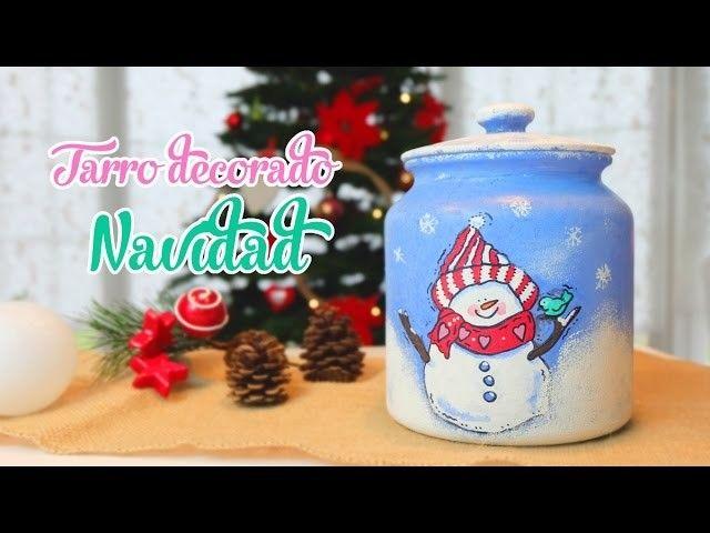 Decoración de Navidad DIY pinta tus tarros con motivos navideños