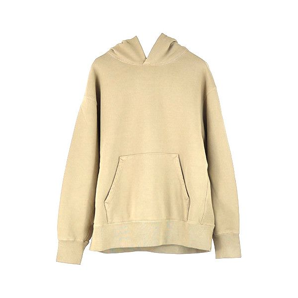 YEEZY SEASON 4 BOXY FIT HOODIE / DUNE ($440) ❤ liked on Polyvore featuring