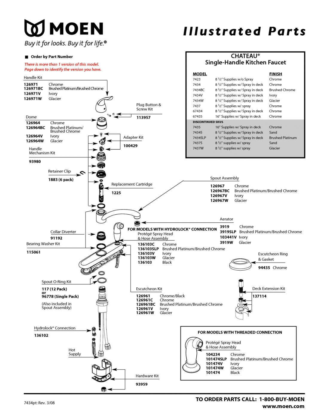 Moen Single Handle Kitchen Faucet Repair Manual Di 2020 Wiring Diagram