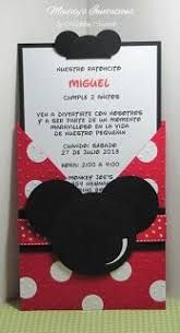 Image result for unique mickey mouse invitations Darsh First Bday