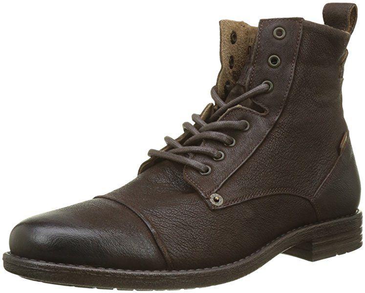 best sneakers 34fb2 dadb1 Levi's Men's Emerson Short Long Boots - brown - 43 EU ...