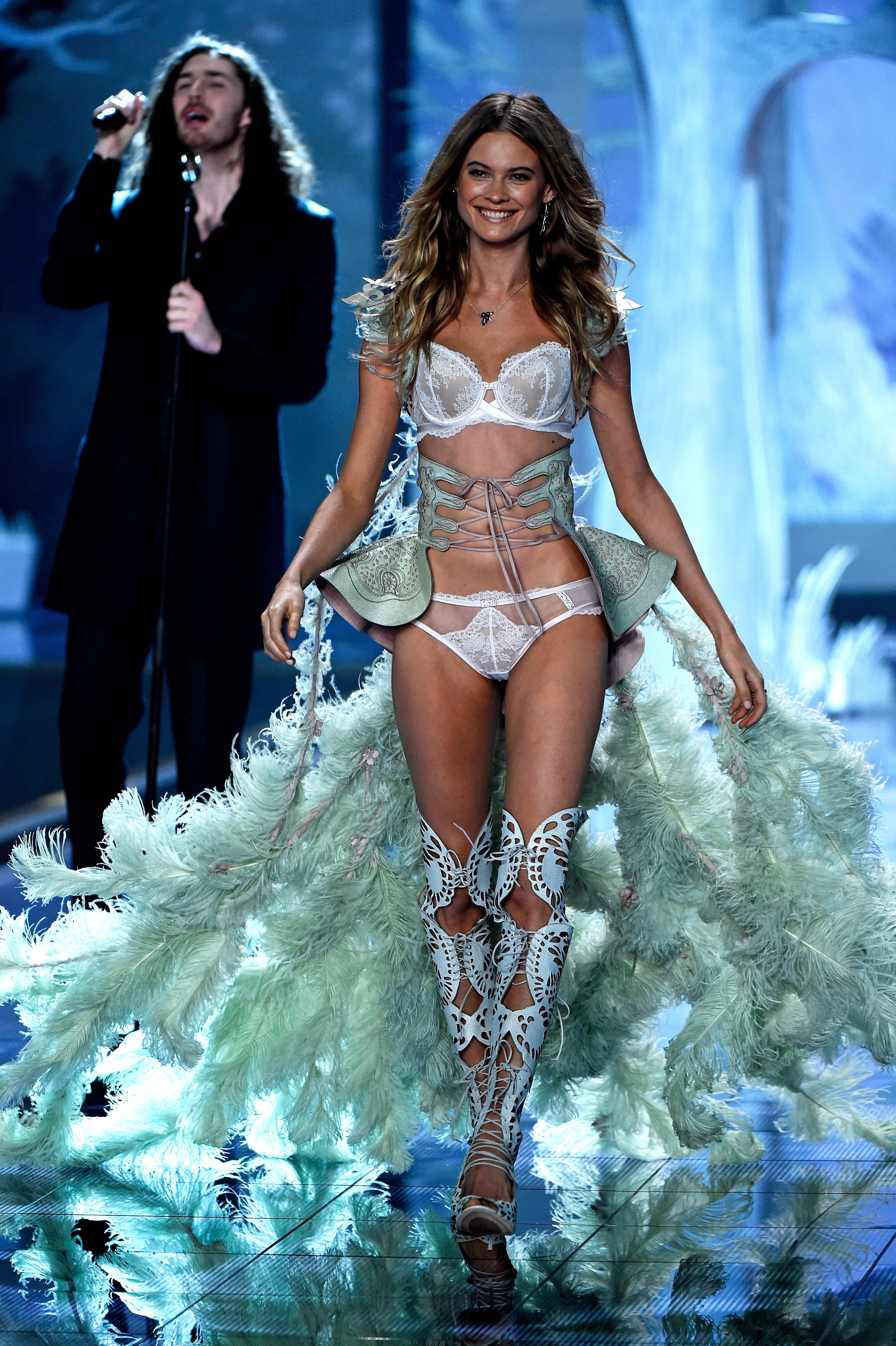 Behati Prinsloo - Victoria's Secret Fashion Show 2014 | Harper's Bazaar