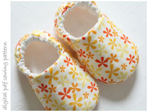 Baby Shoe Pattern - Slipper - Sizes 1 to 5 | Baby shoes pattern ...