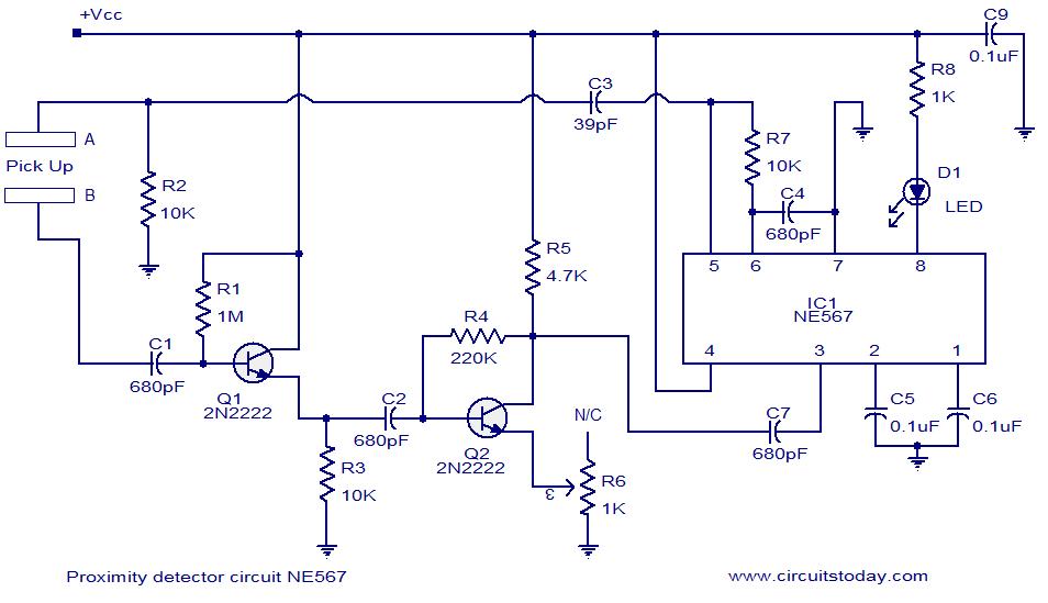 Schematic Symbol In Addition Proximity Sensor Circuit Diagram In ...