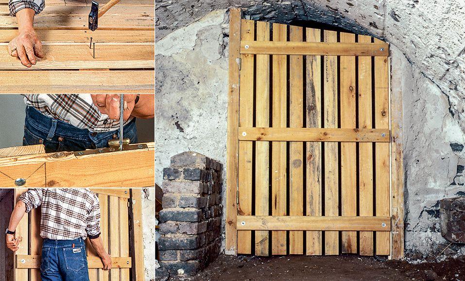 DIY  construire une porte de cave en vin en bois Divider, Doors