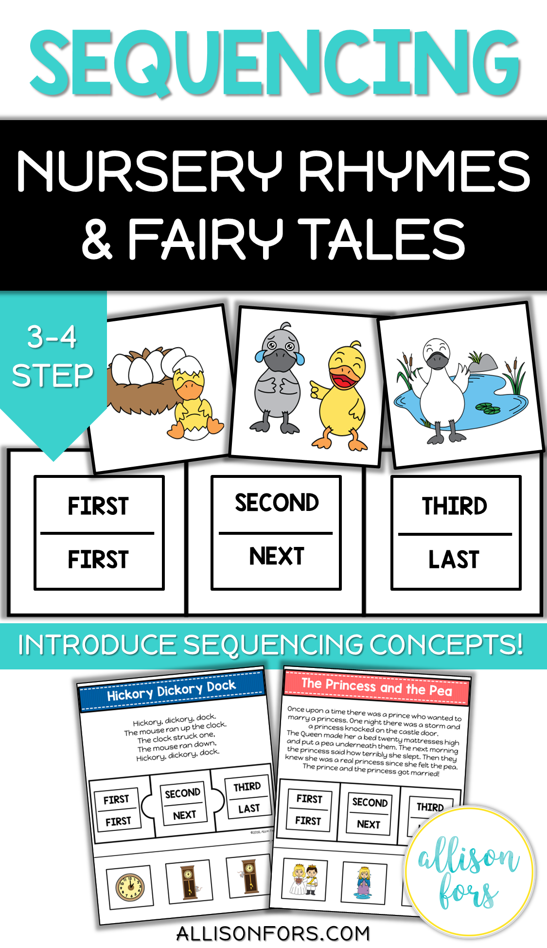 Nursery Rhymes And Fairy Tales Sequencing Cards Speech
