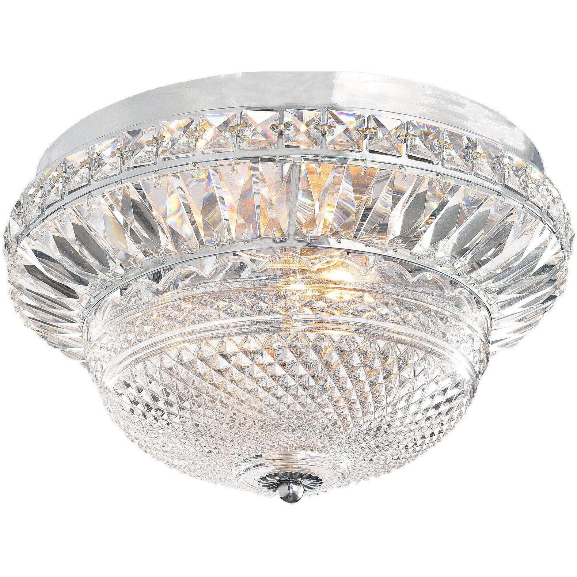 This low profile crystal shade will add a touch of elegant flush mount lighting for less arubaitofo Images