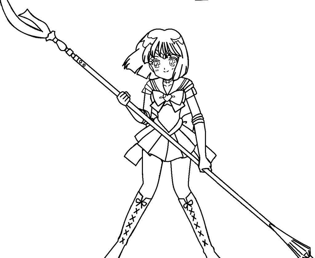 Sailor Pluto Sailor moon coloring pages, Moon coloring