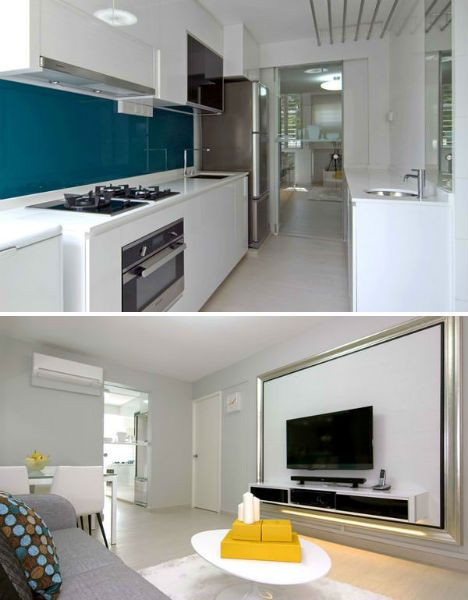 Singapore shoebox flat gets stunning modern renovation for Kitchen ideas singapore