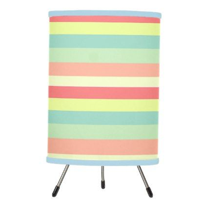 #home #lamps #decor - #Summer Stripes Tripod Lamp
