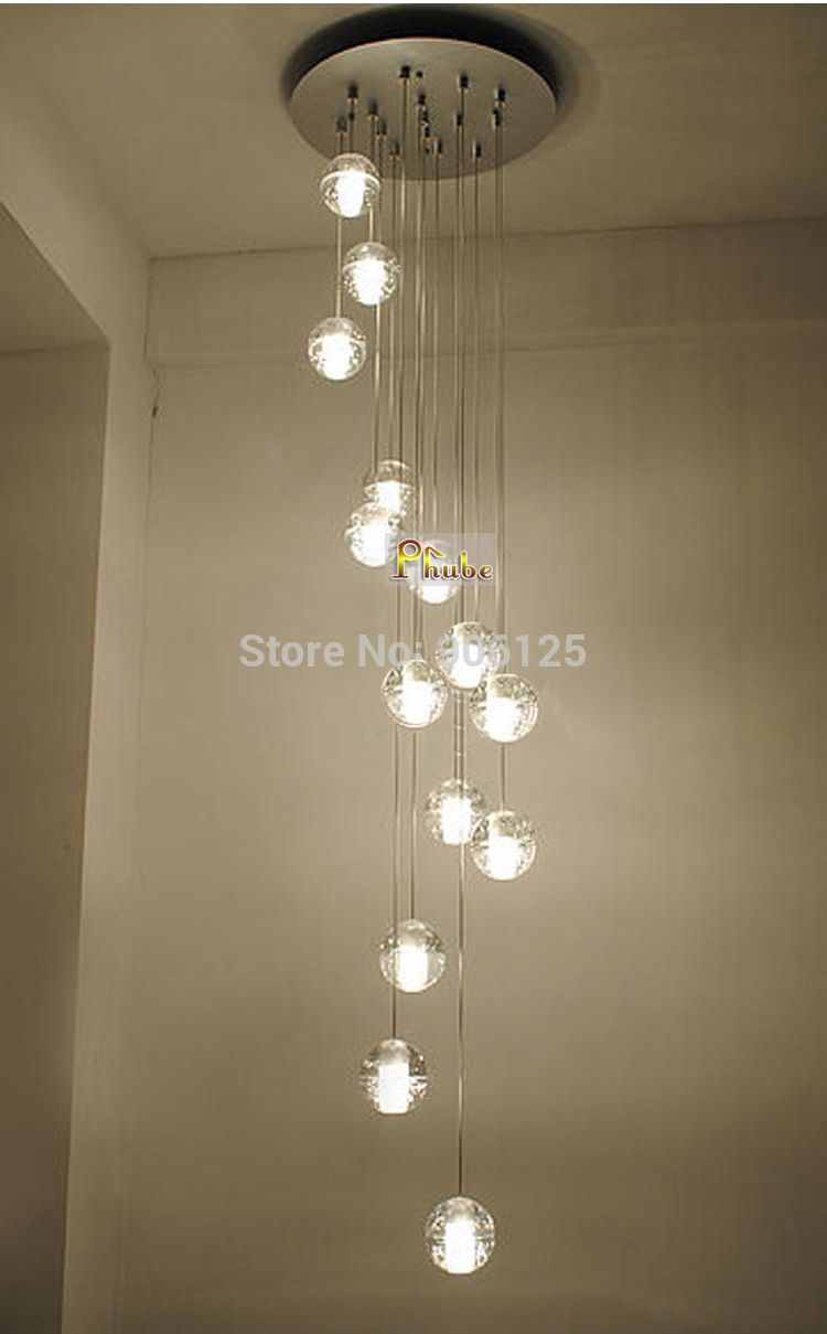 Modern LED Meteor Shower Crystal Chandelier Light Stair Light Fixtures  14 Head Guaranteed 100%+Free Shipping!