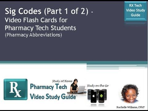 Sig codes flash cards 1 of 2 pharmacy tech study guide sig codes flash cards 1 of 2 pharmacy tech study guide fandeluxe Image collections