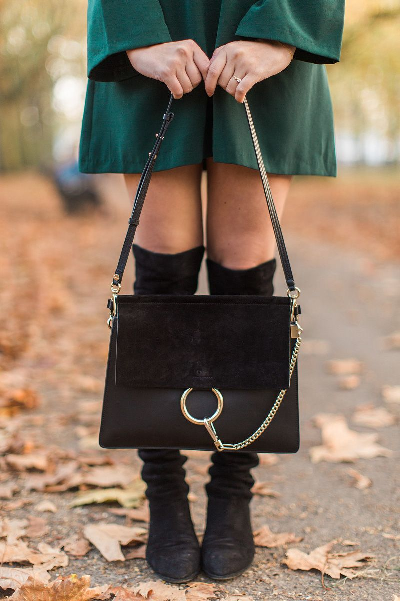 84b4e3d6bd green dress   accessories in 2019   Faye bag, Bags, Chloe bag