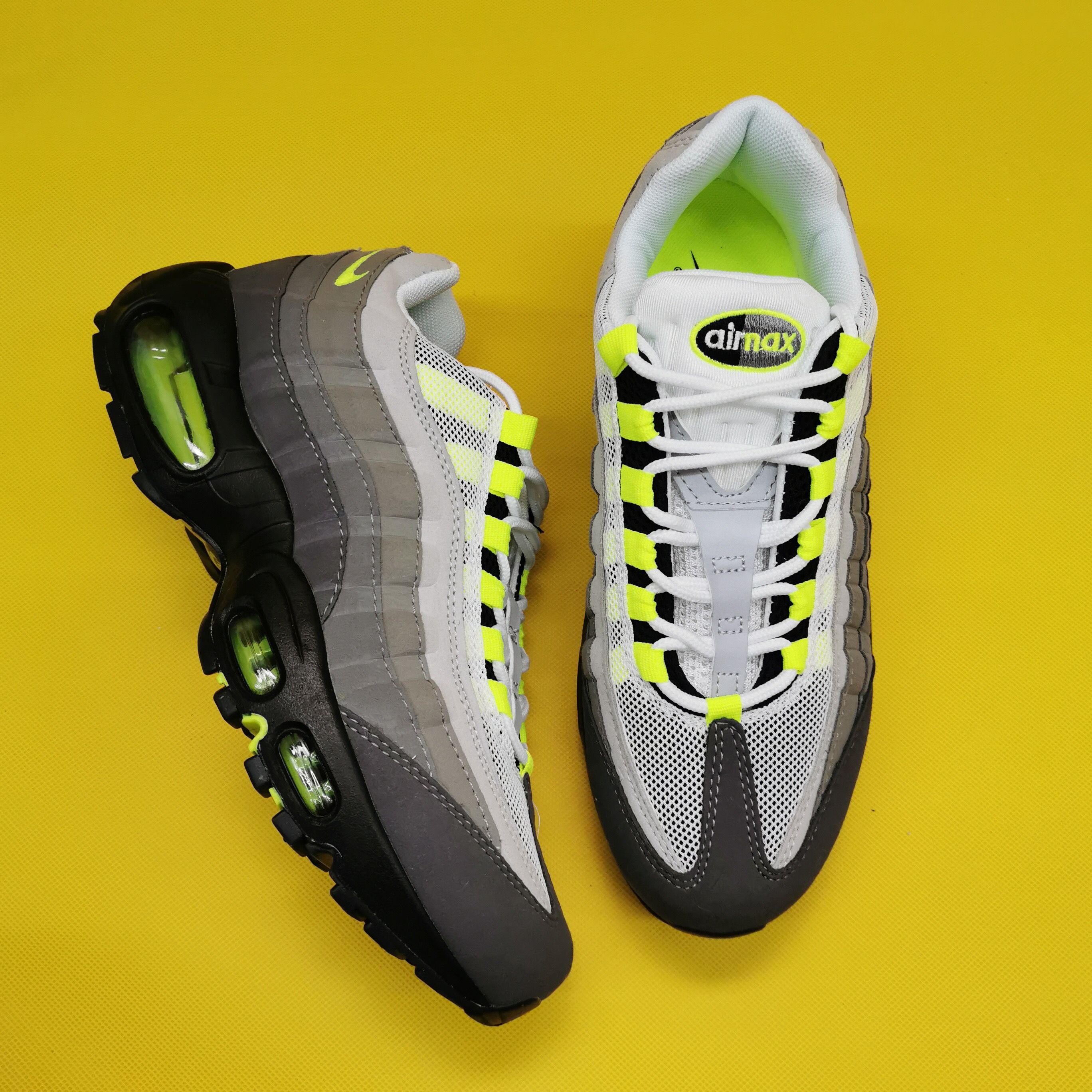 Original Womens Size Air Max 95 Og Neon 2015 With Free Shipping In 2020 Air Max 95 Air Max Nike Air Max 95