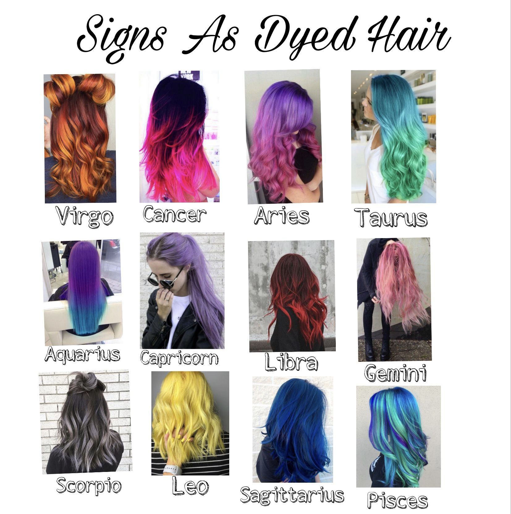Pin By Abby Veteto On Hair Colors Hairstyles Zodiac Signs Zodiac Sign Fashion Zodiac Signs Sagittarius