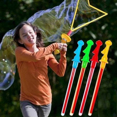 Photo of Niños Diversión encantadora Juguetes al aire libre Bubble Giant Bubble Sword Wall Color al azar de la tienda OMG