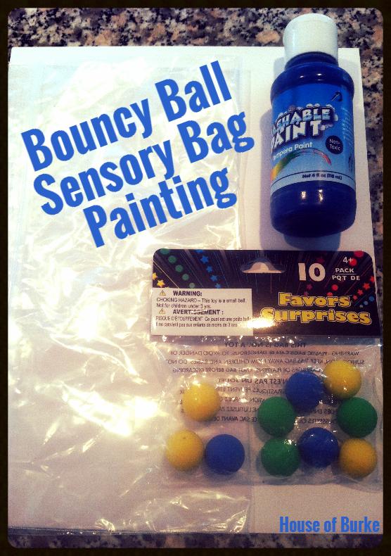 Bouncy Ball Sensory Bag Painting Sensory Bag Bouncy Ball Bouncy