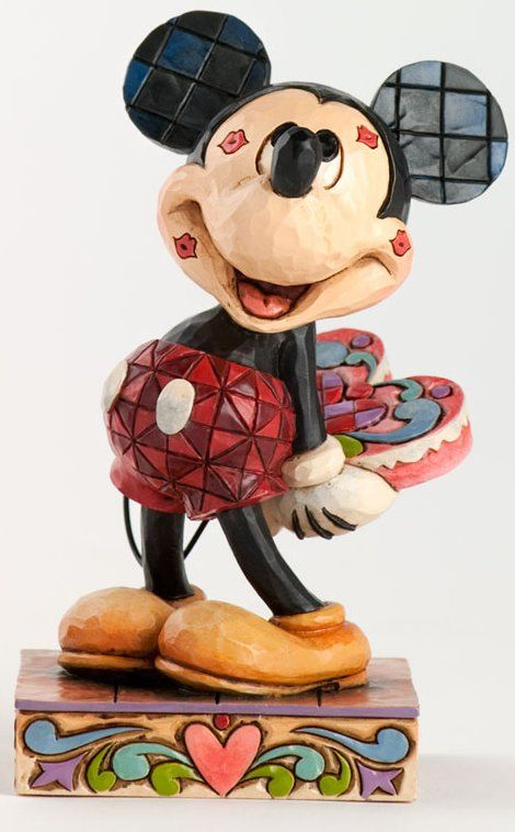 Jim shore disney jim shore disney 4031477 mickey with kisses disney traditions by mickey - Mickey minnie amoureux ...