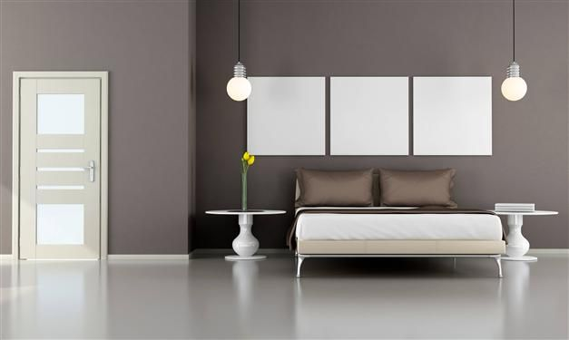 Camera Toni Grigi La parete color grigio-tortora, si ...