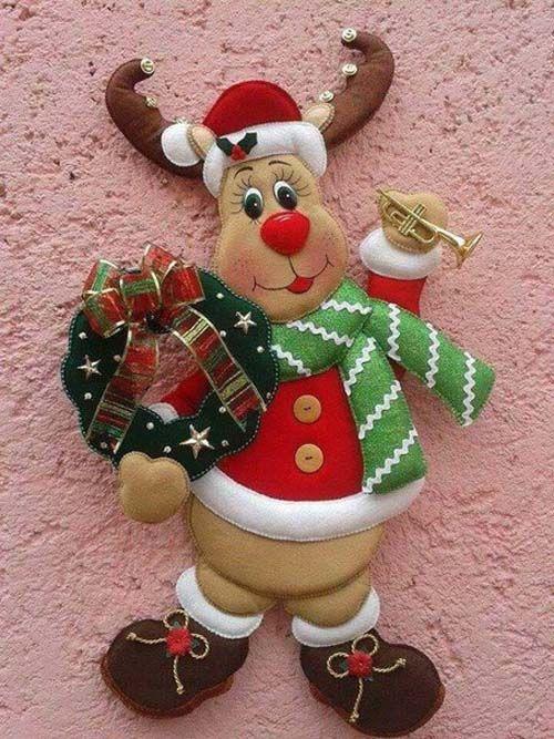 Patrones para hacer figuras navide as en fieltro10 for Figuras de nieve navidenas