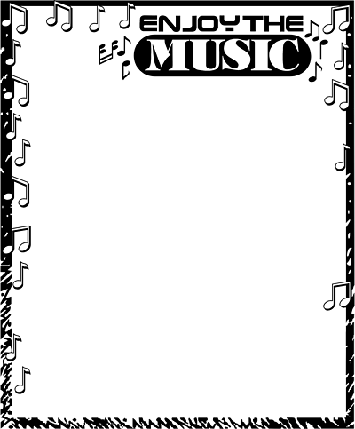free music borders clip art free stock photos illustration of a rh pinterest co uk Music Note Page Border Printable Page Borders Music