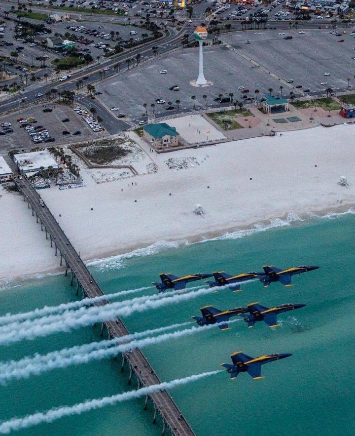 ExplorePensacola Instagram. Pensacola Beach and the Blue