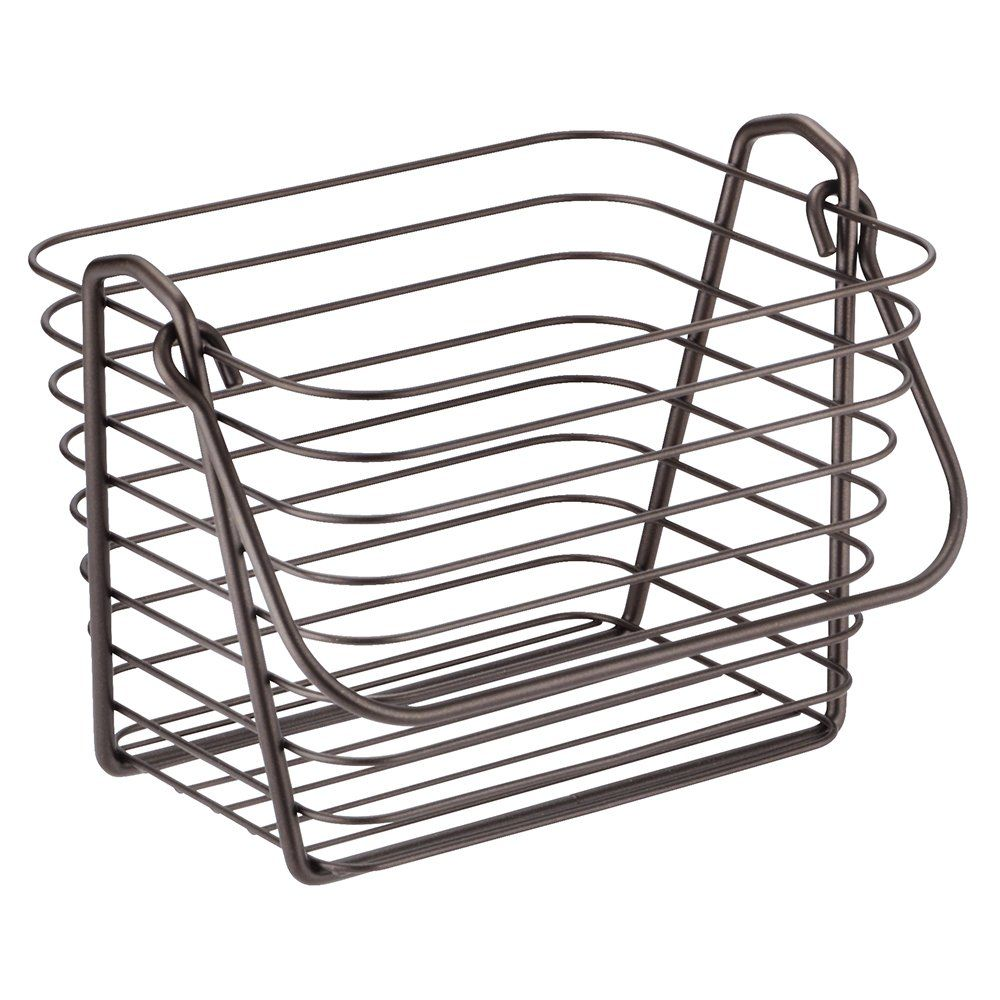 Amazon.com - InterDesign Classico Basket, Medium, Chrome - Shower ...