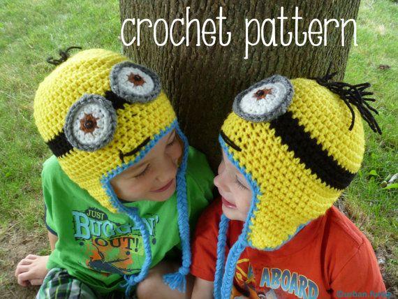 Pattern Only Minion Hat Crochet Minion Hats Hat Crochet And Crochet