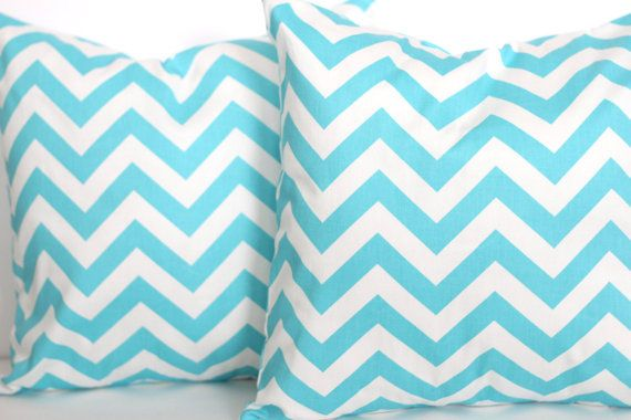Best Two 20 X 20 Pillow Covers Bright Blue Chevron Premier 400 x 300