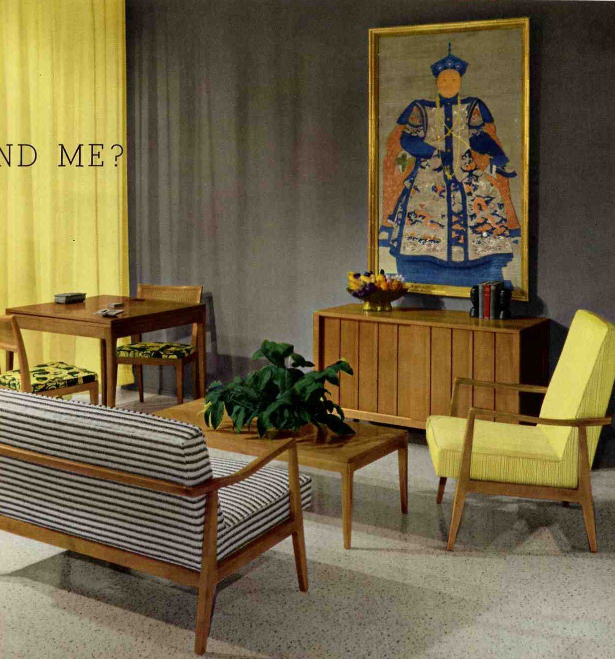 A smoke gray palette for a retro living room | Grey living rooms ...
