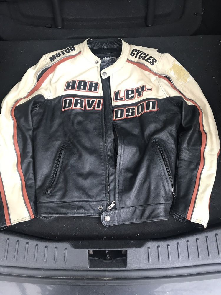 harley davidson mens leather jacket Large fashion
