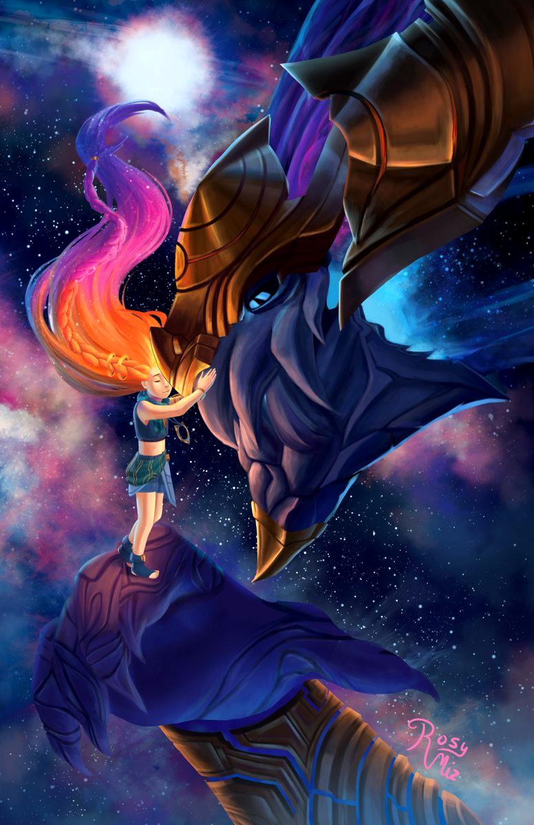 Lol League Of Legends Fan Art Wallpaper Campeões Zoe E Aurelion