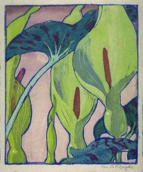 Water Lily Flowers by Scottish Artist Mabel Royds Counted Cross Stitch Pattern