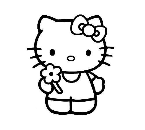 Dibujos para colorear de Hello Kitty | Dibujos animados | Pinterest
