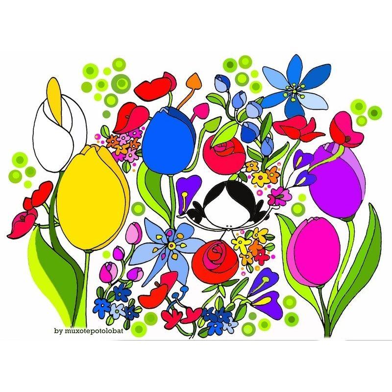 dbf597033 Lámina  Primavera (flower therapy II)  - Muxote Potolo Bat Tienda Online