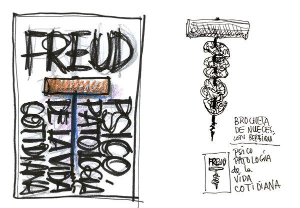 Bocetos de Manuel Estrada para Alianza Editorial