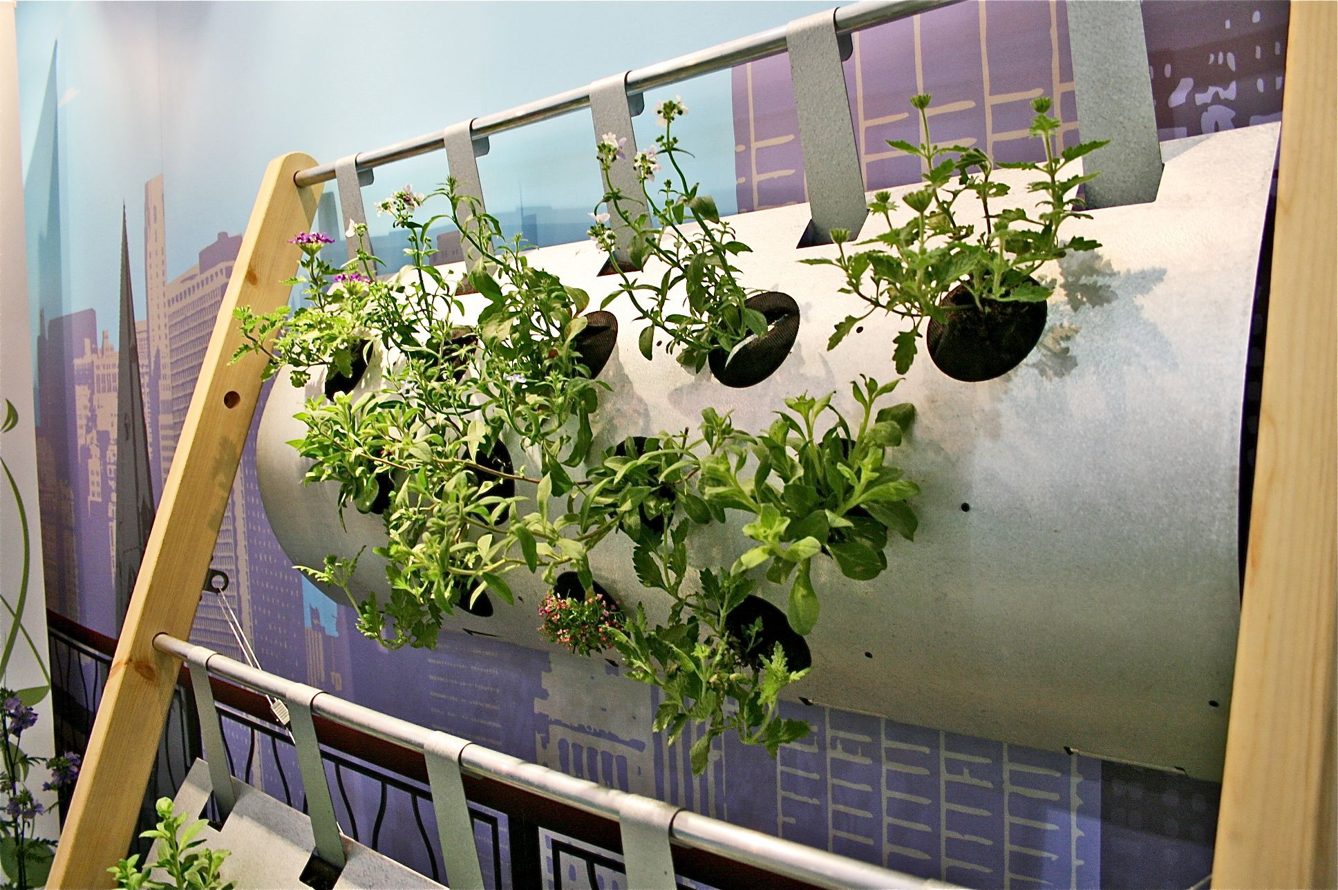 the vertigro modular growing system at grand designs live - Vertical Vegetable Garden Design