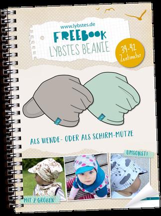 Kostenloses Baby Beanie Schnittmuster, Freebook Mütze, 0-3 Monate ...