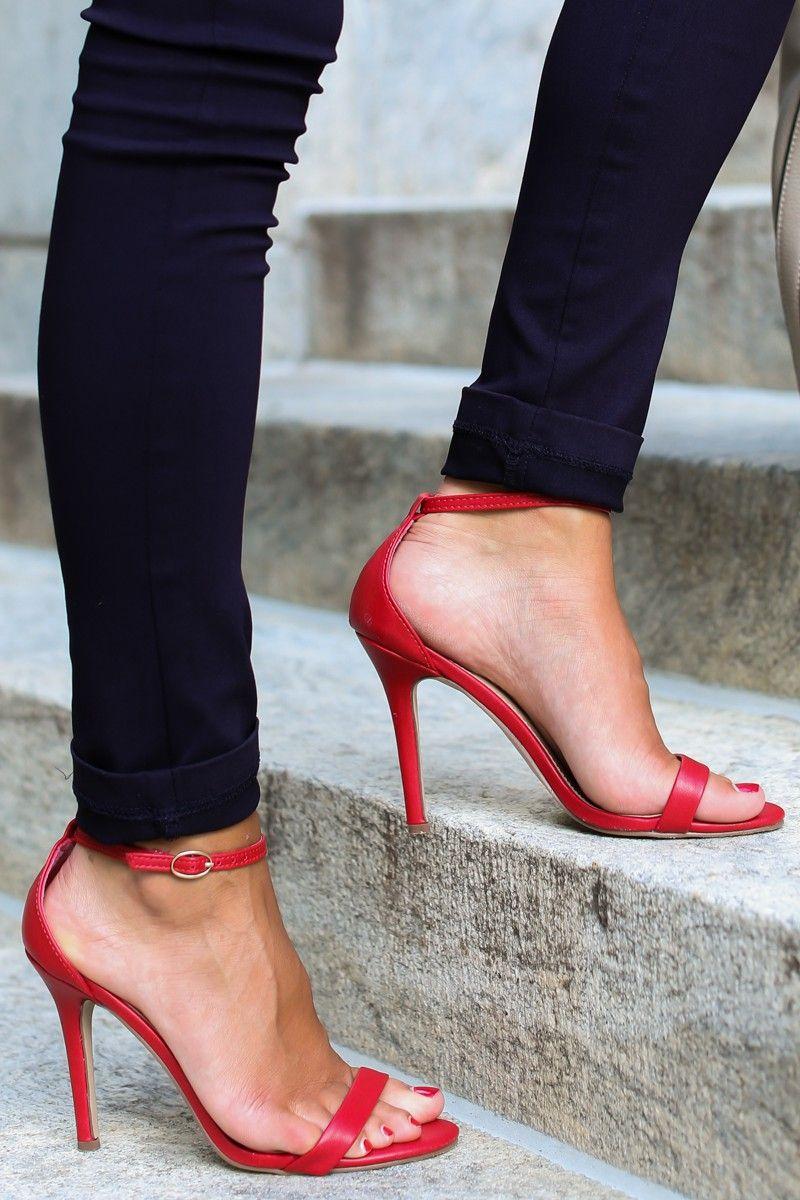At My Best Red Ankle Strap Heels at reddressboutique.com | Shoes I ...