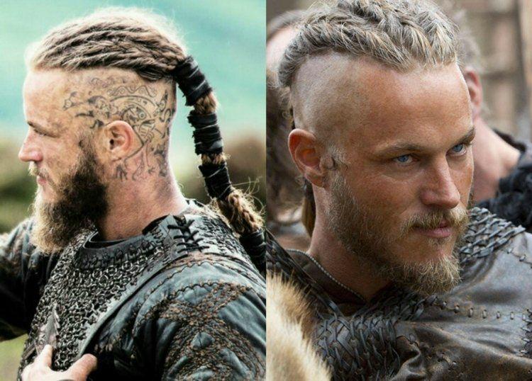 Travis Fimmel Als Ragnar Lothbrok The Vikings Staffel Vikinghairstyles Geflochtene Frisuren Flechtfrisuren Viking Frisur