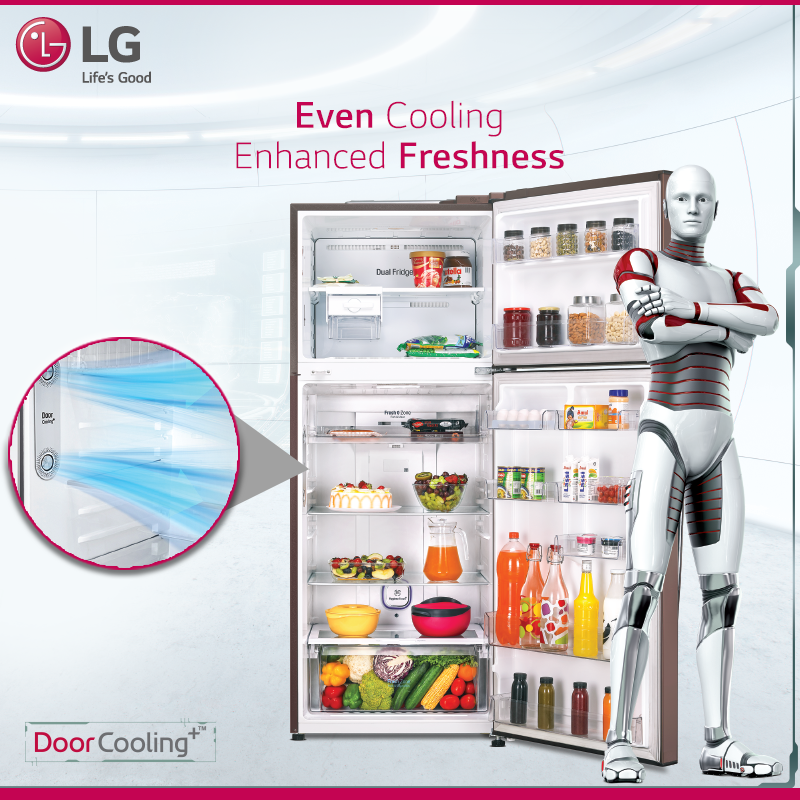 Experience A More Even And 35 Faster Cooling With Door Cooling