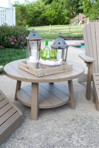 Finch Poly Seaaira 38 Conversation Table Polywood Patio Furniture