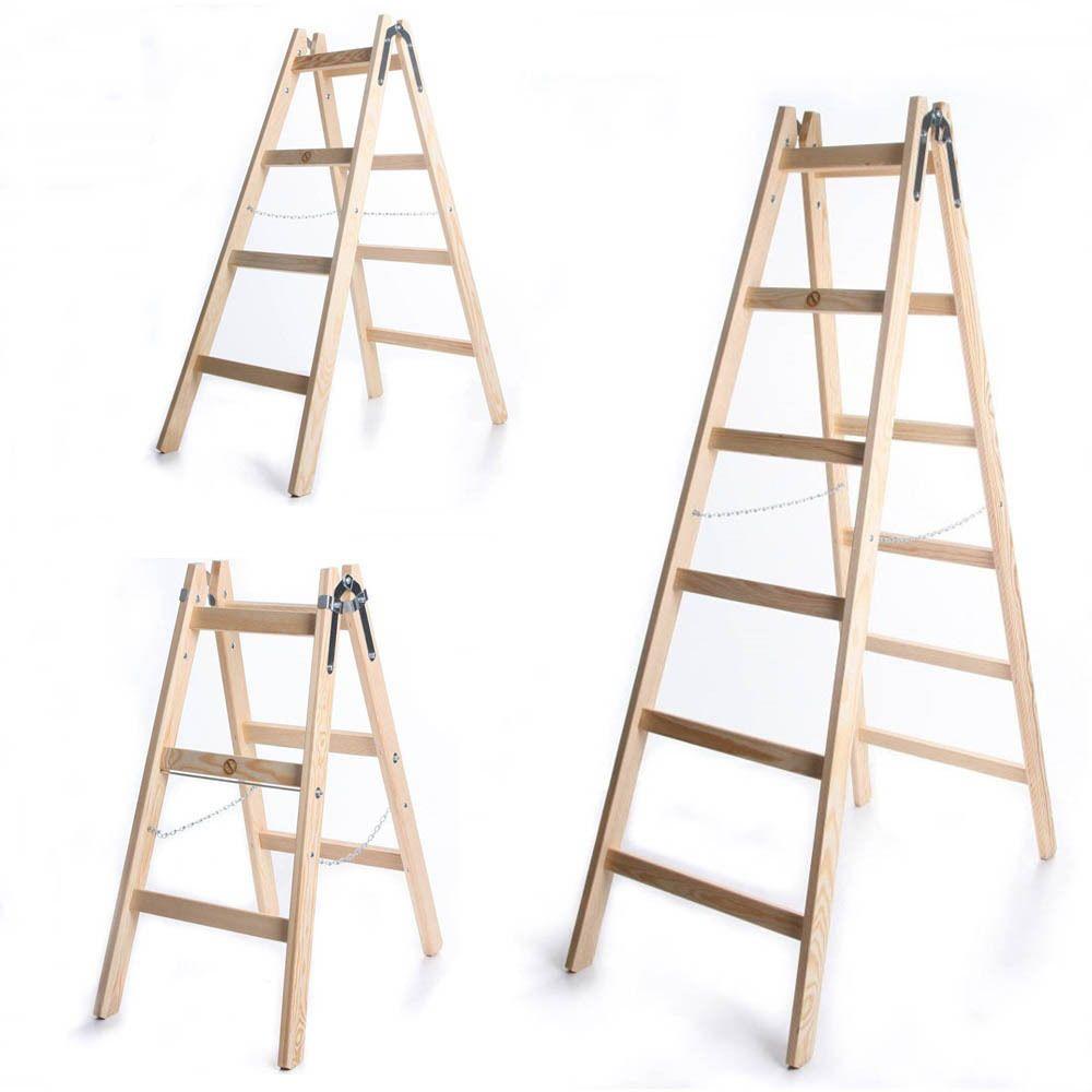 Leiter Holzleiter Klappleiter Haushaltsleiter 150kg 3 6 Stufen Klapptritt Steh Ebay Haushaltsleiter Holzleiter Haushalt