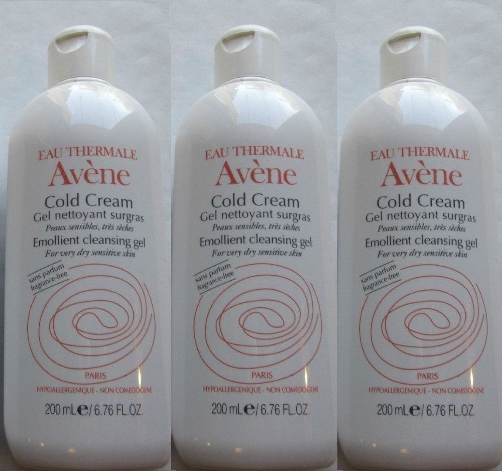 3 Original Avene Cold Cream Cleansing Gel Sensitive Skin Soap Cleanser Free Ship
