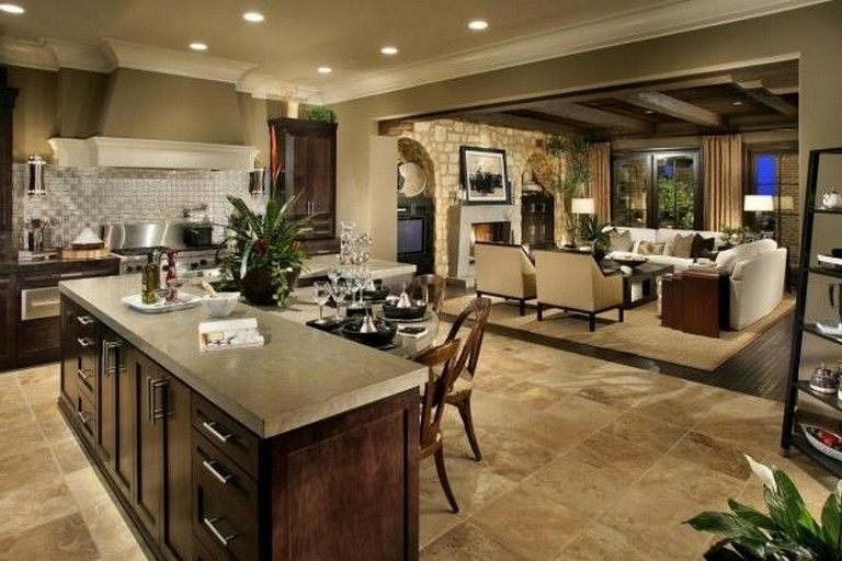 40+ Best Open Concept Kitchen Living Room Design Ideas images