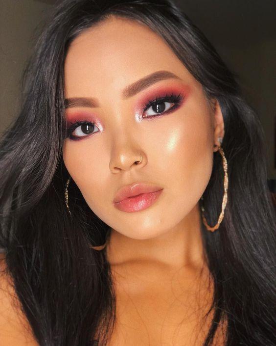 Eyeshadow makeup natural asian | Etsy