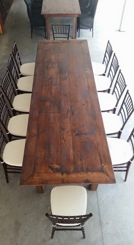 We Have 25 Antique Farm Tables Available For Rent Rustic Deeply Stained And With Stress Marks Make Them Look 100 Ye Farm Table Decor Rustic Table Farm Table