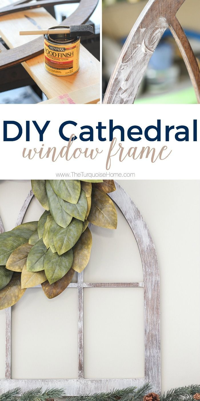 LOVE this look for less! Fixer Upper-style DIY Cathedral Window ...