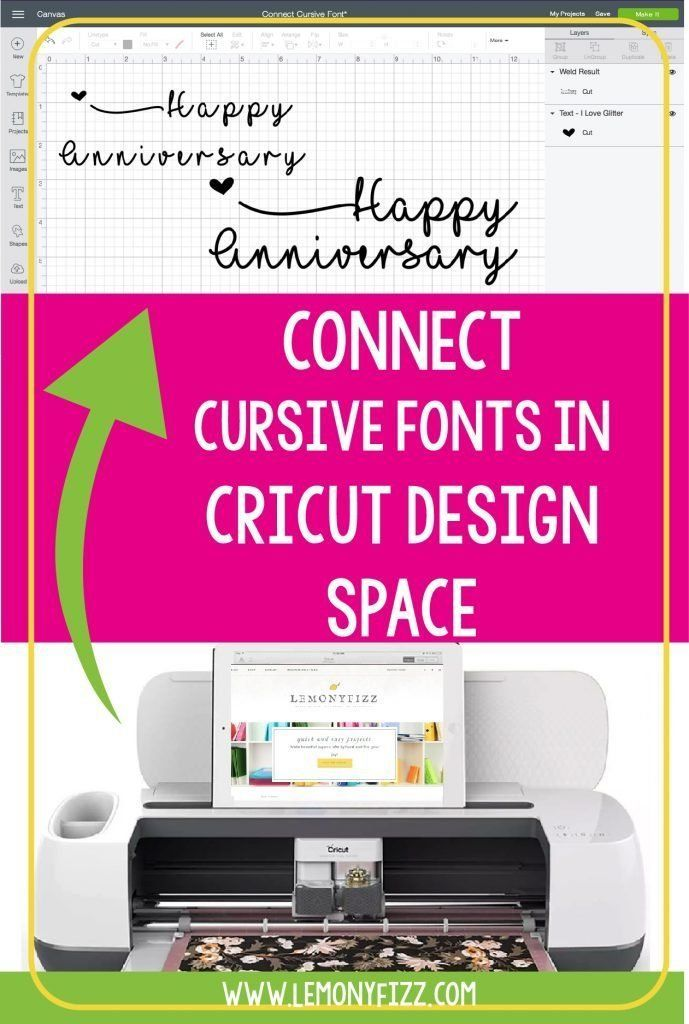 Tricks To Connect Cricut Script Fonts In Design Space