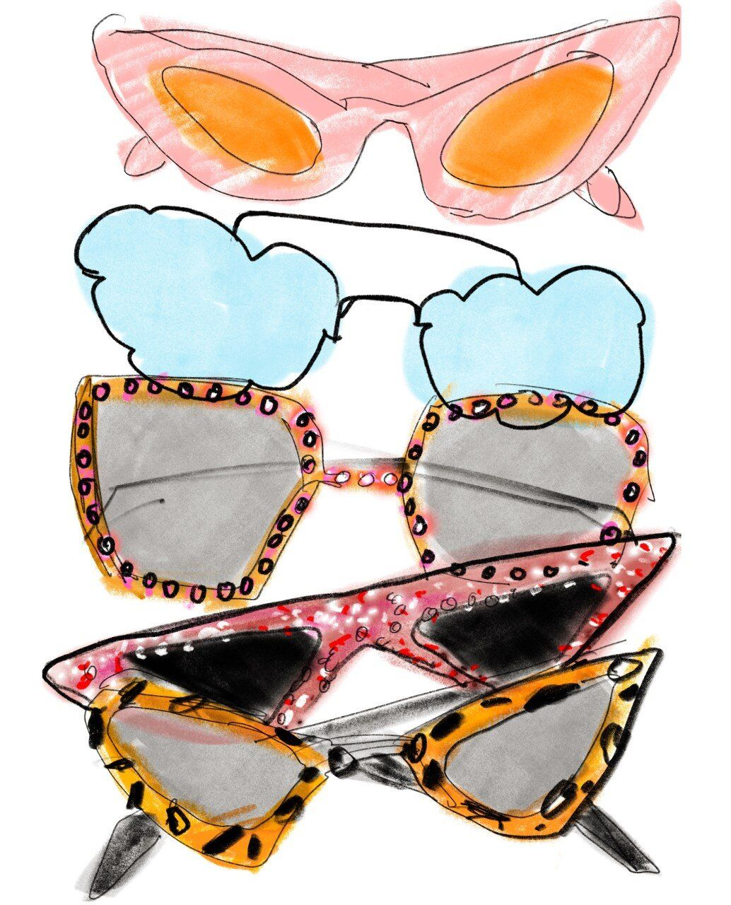 Photo of Fancy goggles illustration by Anjelica Roselyn